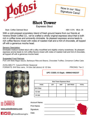 Shot Tower Sell Sheet