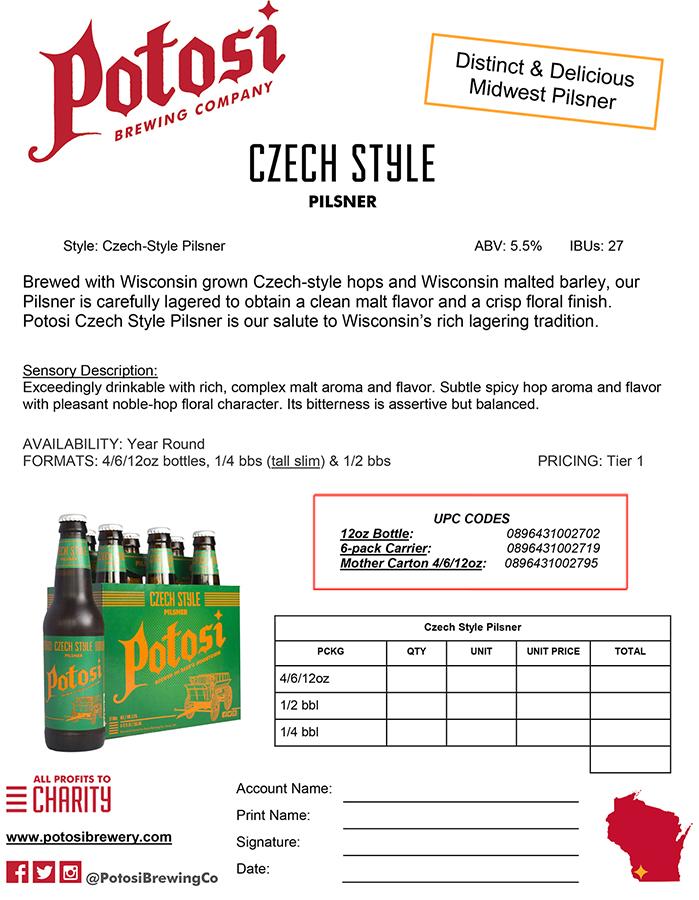 Czech Style Sell Sheet