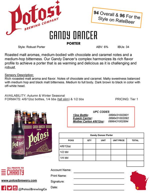 Gandy Dancer Sell Sheet