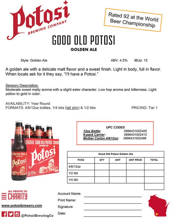 Good Old Potosi Sell Sheet