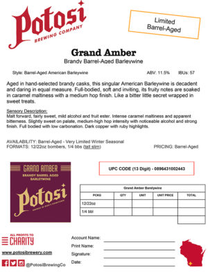 Grand Amber Sell Sheet