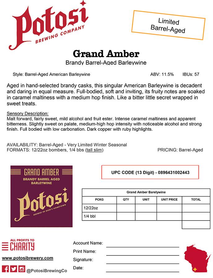 Grand Amber Sell Sheet