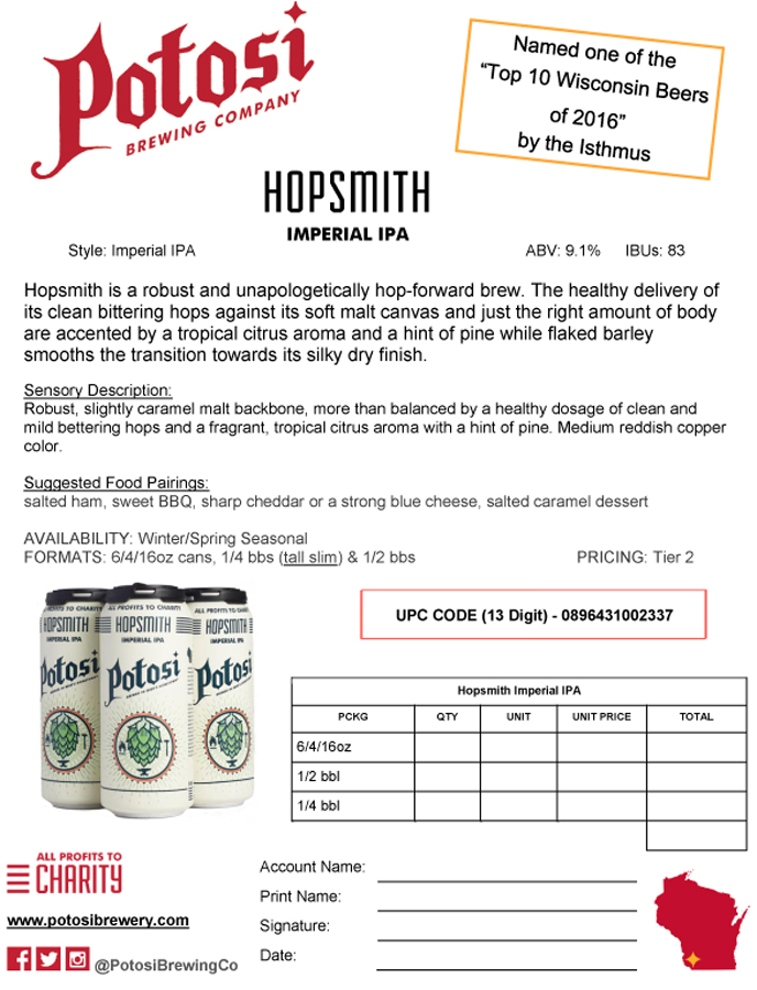 Hopsmith Sell Sheet