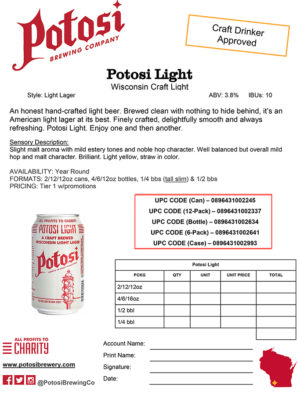 Potosi Light Sell Sheet