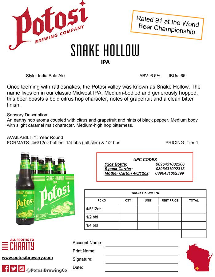 Snake Hollow Sell Sheet
