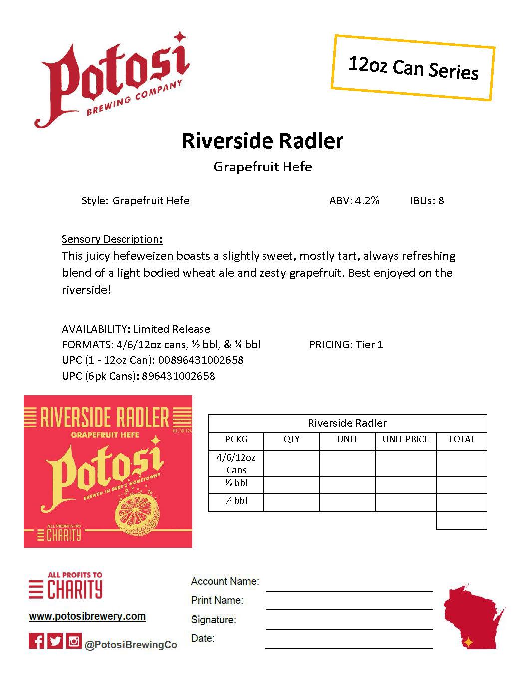 Riverside Radler Sell Sheet Thumbnail - Compressed JPG Image