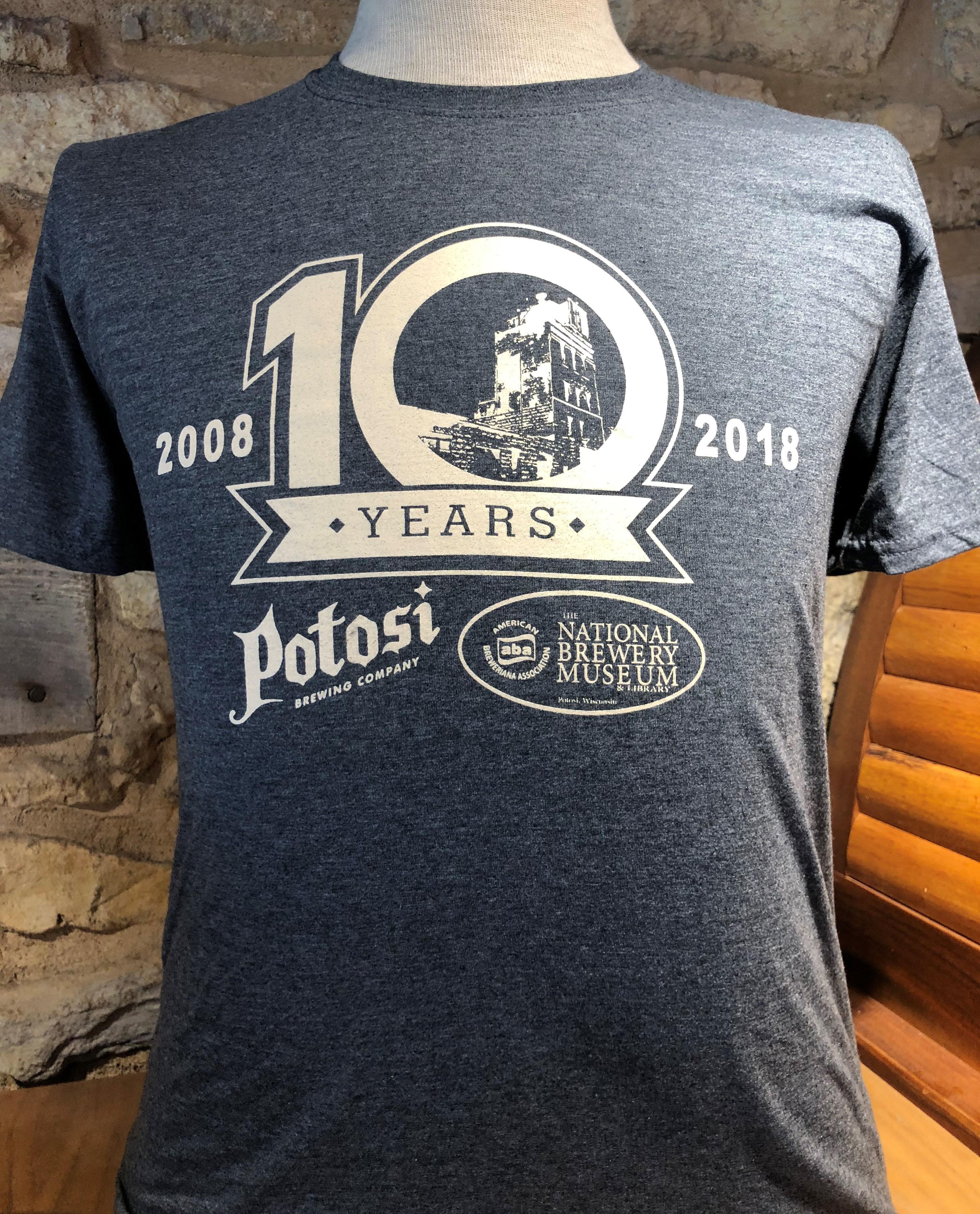 10 Year Anniversary Tee Potosi Brewing Company