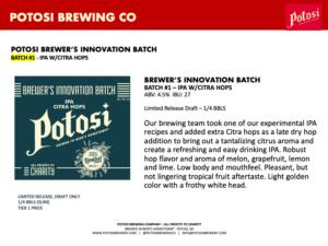Brewers Innovation BatchNo1 Sell Sheet - Widescreen - PDF